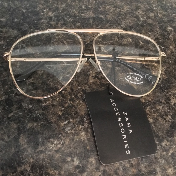 c33744cbf8c0 Zara Accessories | Aviator Clear Lens Gold Framed Glasses | Poshmark